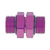 MAGNAFUEL -10 ORB TO -10 ORB COUPLER FITTING ALLOY PURPLE MAG-MP-3011