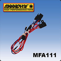 MARADYNE DUAL FAN WIRING HARNESS W/RELAY MARMFA111