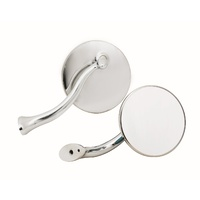 "Mr Gasket MG-8218GMRG 4"" Swan Neck Mirrors Polished Stainless Steel"