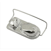 MR GASKET CHROME MASTER CYLINDER COVER MG5274 WITH BAIL CLIP SUIT FORD/AMC 68-70