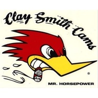 "MOONEYES CLAY SMITH CAMS MR HORSEPOWER STICKER 2.375""H X 3.5""W RIGHT MNCSD17R"