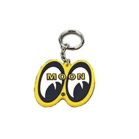 MOONEYES KEYCHAIN YELLOW WITH EYE SHAPED LOGO MNMKR026