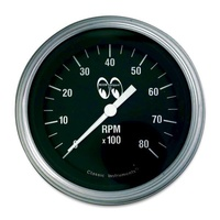 "MOONEYES 3-3/8"" ELECTRIC TACHOMETER 0-8000RPM BLACK FACE MNMPG3308"