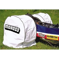 MOROSO TYRE COVER WHITE VINYL FITS OVER TYRES UP TO 33.5 X 17.5-15  MOR99410