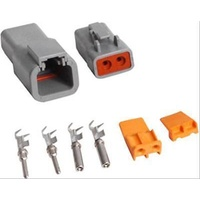 MSD DEUTSCH CONNECTOR DT SERIES 2 PIN 16 GAUGE 1 MALE 1 FEMALE MSD8183