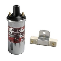 MSD Ignition MSD8200 Blaster 2 Coil Chrome w/ Ballast Hardware 45000 Volt