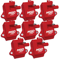 MSD MULTIPLE SPARK IGNITION COIL KIT CHEV/HOLDEN LS1/LS6 SET OF 8 MSD82858