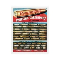 "Metal Sign MSI-1001 Remington Cartridges 16""x 12.5"""