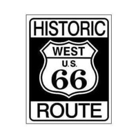 "Metal Sign MSI-1036 Historic Route 66 16"" x 12.5""6"