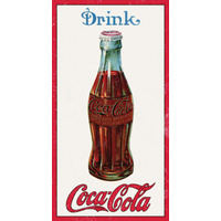 Metal Sign MSI-1210 Drink Coca Cola / Coke Metal 40cm x 21cm Sign