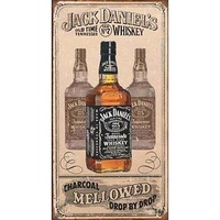 "Metal Sign MSI-1224 Jack Daniel's Charcoal Mellow 16"" x 12.5"""