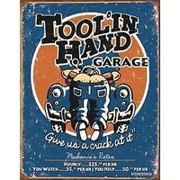 "Metal Sign MSI-1319 Tool In Hand Garage 16"" x 12.5"""