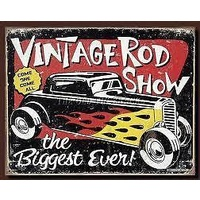 "Metal Sign MSI-1324 Vintage Rod Show 16"" x 12.5"""