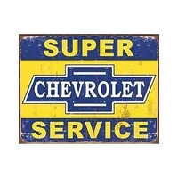 "Metal Sign MSI-1355 Chevrolet Super Service 16"" x 12.5"""