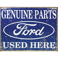 "Metal Sign MSI-1422 Ford Genuine Parts 16"" x 12.5"""