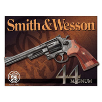"Metal Sign MSI-1463 Smith And Wesson 44 Magnum Height 12.5"" Width 16"""
