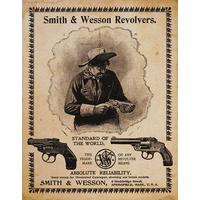 "Metal Sign MSI-1464 Smith And Wesson Revolvers Height 16"" Width 12.5"""