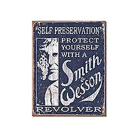 "Metal Sign MSI-1515 Smith And Wesson Self Preservation Height 16"" Width 12.5"""