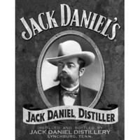 "Metal Sign MSI-1622 Jack Daniels Portrait 16"" x 12.5"""