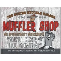 "Metal Sign MSI-1624 BKG Muffler Shop 16"" x 12.5"""