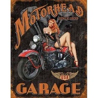 "Metal Sign MSI-1628 Motorhead Garage 16"" x 12.5"""