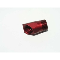 "Inlet Fitting Adapter, Red Finish (1"" NPT male to 1"" NPT female, 45 degree angle) (MZWP1045R)"