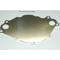 MEZIERE ELEC WATER PUMP BILLET BACKING PLATE FORD 289-351W CHROME MZWP113C