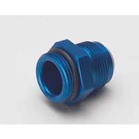 MEZIERE REMOTE WATER PUMP FITING -16 AN ORB MALE TO -16 AN MALE BLUE MZWP16016B