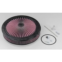 "K&N Filters KN66-3000 X-Stream Air Filter Assy 14"" X 3-7/8"" Flat Base 5-1/8 Neck"