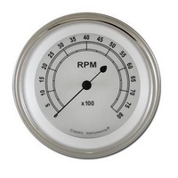 "CLASSIC INSTRUMENTS CLASSIC WHITE 3-3/8"" TACHOMETER 8000RPM CICW80SLC"