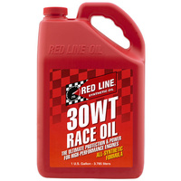 RED LINE 30WT (10W/30) RACE ENGINE OIL RED10305, 1 GAL (3.785 Litres)