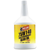 RED LINE 75W/140 GL-5 GEAR OIL RED57914, 1 QUART BOTTLE (946ml)