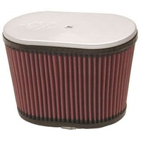 "K&N Filters KNRD-4600 Oval Injector Stack Filter 9""L X 5.5""W X 6.25""H Dual 2.5"" Neck"
