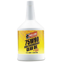 RED LINE 75W/90 GL-5 SYNTHETIC GEAR OIL RED57904, 1qt (946ml)