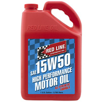 RED LINE 15W/50 SYNTHETIC ENGINE OIL RED11505, 1 GAL (3.785 Litres)