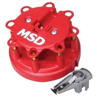 MSD DISTRIBUTOR CAP & ROTOR KIT OEM FORD HEI 302/351W EFI 1986-98 RED MSD 8482