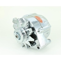 POWERMASTER FORD STREET ALTERNATOR PM8-67101, 100 AMP 1 WIRE POLISHED