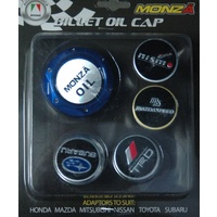 AUTOTECNICA BLUE BILLET OIL CAP OIL2 WITH LOGOS TO SUIT MOST JAPANESE MODELS