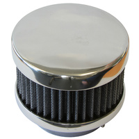 "Polished Smooth Air Cleaner (4"" O.D X 3-5/8"" H Suit 2-5/8"" Carburettor Neck) (OTAC4SC)"