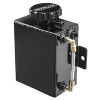 Proflow PFERO4BK Radiator Overflow Tank Square w/Level Indicator Black