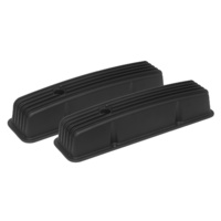 "Proflow PFEVC-715 Tall Alloy Valve Covers Black Finned Chevrolet Small Block 4"" Tall"