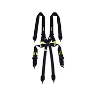 Proforce Safety PFS-7000BK Professional Camlock 6 Point Harness Black