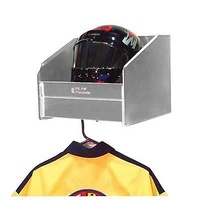 "PIT PAL 1 BAY WALL MOUNT HELMET SHELF WITH HANGER 14.25""W X 12""H X 15""D PIT-330"