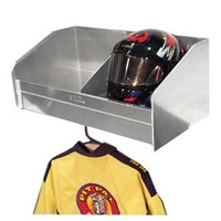 "PIT PAL 2 BAY WALL MOUNT HELMET SHELF WITH HANGER 28.5""W x 12""H x 15""D PIT-331"