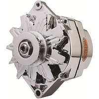 POWERMASTER GM 10si STYLE 85 AMP ALTERNATOR PM17127 CHROME INT REG V PULLEY