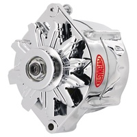 POWERMASTER 100A SMOOTH LOOK CHROME ALTERNATOR PM17297 GM 12si STYLE V-BELT