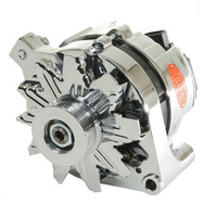 POWERMASTER CHROME STREET ALTERNATOR FORD 2G STYLE 80 AMPS SERPENTINE PM17735