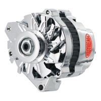 POWERMASTER 140AMP POLISHED ALTERNATOR SINGLE V PULLEY CHEV SINGLE WIRE PM678021