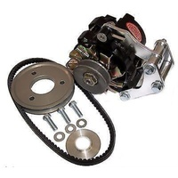 POWERMASTER DRAG RACE 100 AMP BLACK ALTERNATOR KIT PM8-881 SUIT CHEV SB 302-350