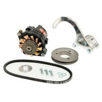 POWERMASTER DRAG RACE 100 AMP ALTERNATOR KIT CHEV SB SUIT RAILED CHASSIS PM8-898